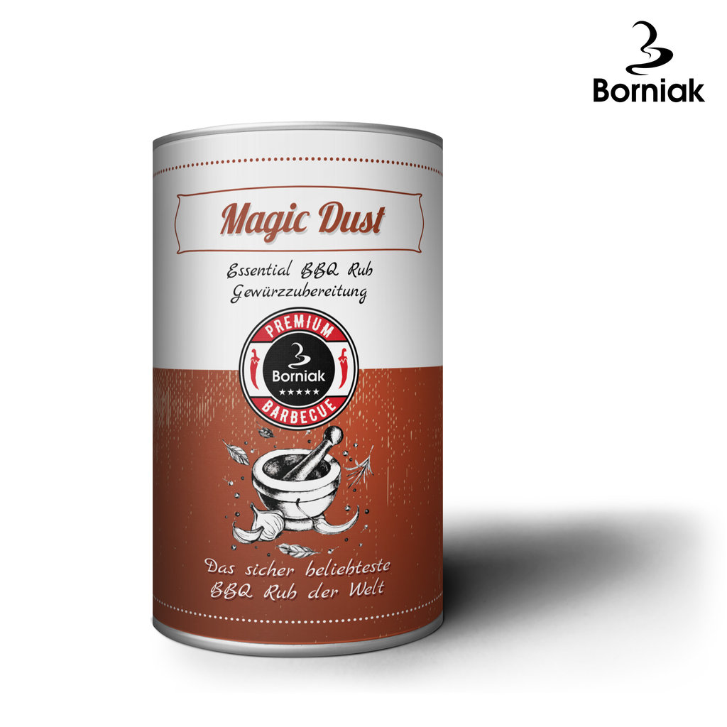 Borniak BBQ Gewürz Magic Dust Inhalt 300g (1000g 36,63 €)